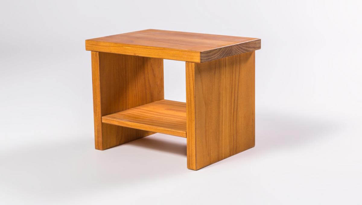 New Zealand made solid wood bedside table
