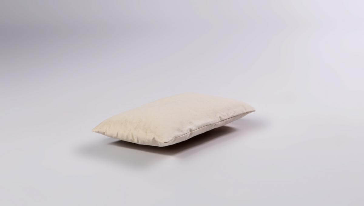 Buckwheat Hull Pillow with Cotton Cover - Small Size