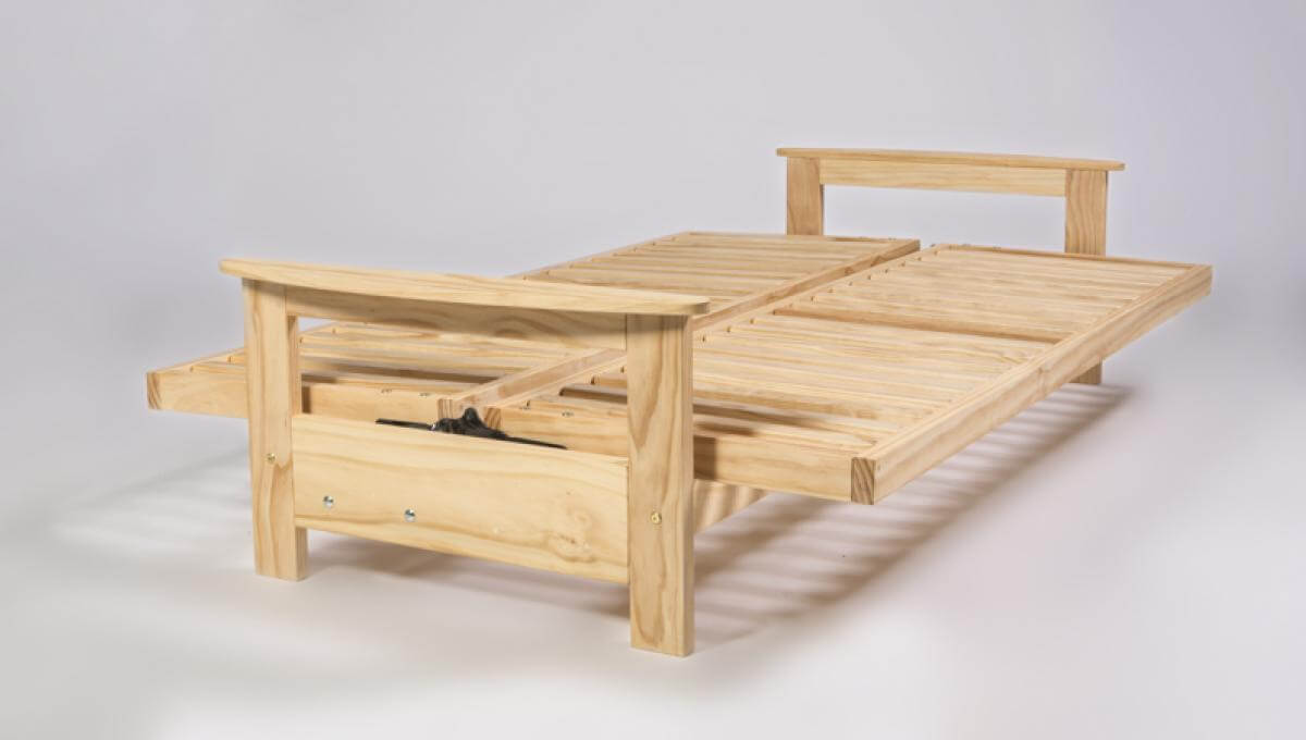Studio Settee Frame in bed position by Natural Beds